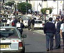 Tre personer ble drept da bomben eksploderte. Bomben var trolig bundet fast til en av dem. (Foto: EBU)