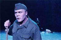 Kim Haugen som soldaten Woyzeck i Stein Winges regi