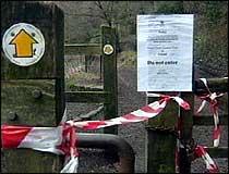 Mange gårder i Storbritannia er avsperret for besøkende. (Illustrasjonsbilde)