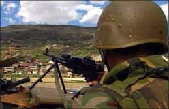 Kampene er trappet opp i Tetovo.