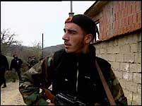 Albansk geriljasoldat.