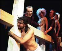 Haldor (nr. 2 fra v.) som Judas Iskariot (Foto: Lasse Berre)