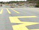 Gullknapp flyplass, Froland (foto: NRK Sørlandet)