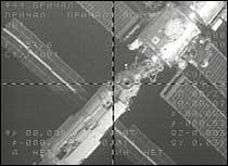 Den internasjonale romstasjonen ISS sett fra en russiske romkapsel. (Arkivfoto: EBU)