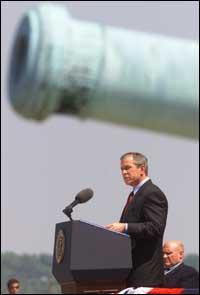 President George W. Bush stiller krav til palestinske myndigheter.