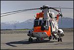 Redningshelikopter i Florø Arkivfoto NRK