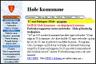 Internettsider fra Hole kommune.