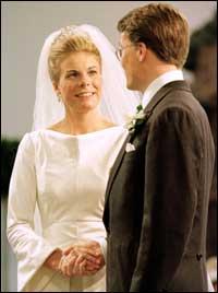 Prins Constantijn og Laurentien Brinkhorst sier ja til hverandre. Foto: Reuters