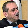 Yasser Abbed Rabbo, palestinernes informasjonsminister, godtar ikke de israelske vilkårene. (Scanpix-foto)