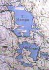 Kart over Baneheia.