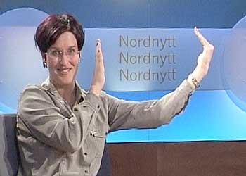 Nina Einem i Nordnytt studio