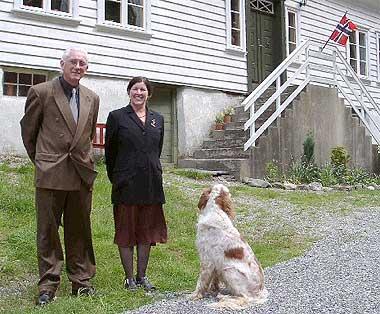 Clyde og Olaug Berg Stewart venter kongebesøk