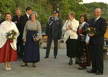Kongefølget på Sjernarøy mandag kveld