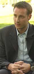 Kronprins Haakon under intervjuet med Terje Svabø i mai 2000. Foto: NRK