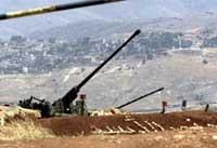 Like i nærheten ligger den syriske radaren som ble beskutt av israelske krigsfly i dag. Foto: Scanpix