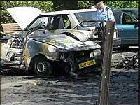Tidligere i dag eksploderte to bilbomber nær Tel Aviv.