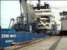 "Dykkerskipet ""Mayo"" i Kirkenes (Foto:NRK)"