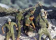 Israelske soldater ved Beit Jala