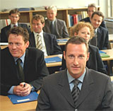 Kronprins Haakon inn på UDS aspirantkurs. Foto: Scanpix