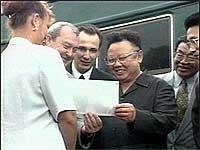 Kim Jong-Il gikk på 21-vognerstoget sist onsdag.